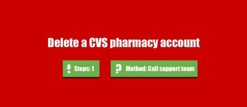 delete cvs account