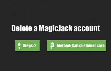 delete magicjack account 0