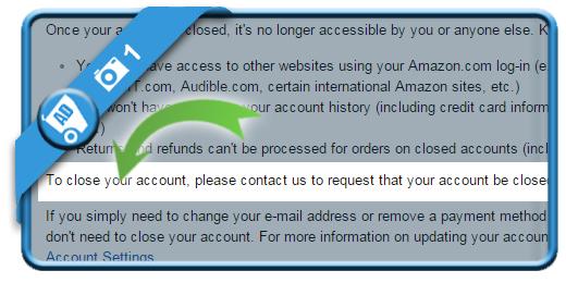 delete amazon account 1