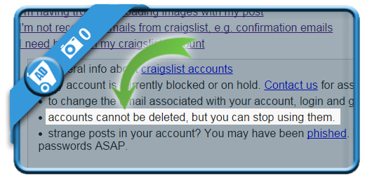 How to permanently delete craigslist account