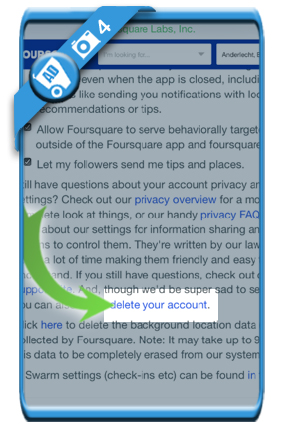delete foursquare account 4