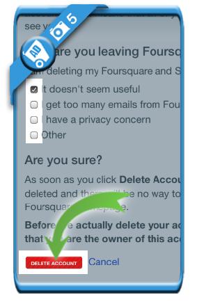 delete foursquare account 5