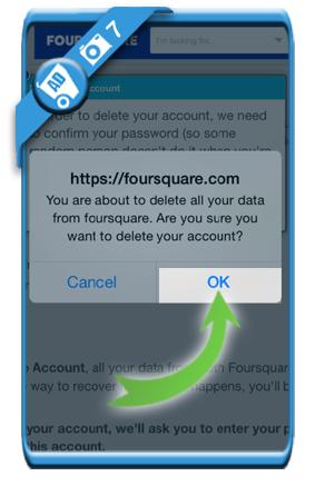 delete foursquare account 7