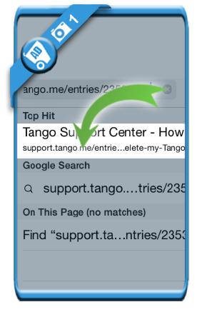 delete tango account 1
