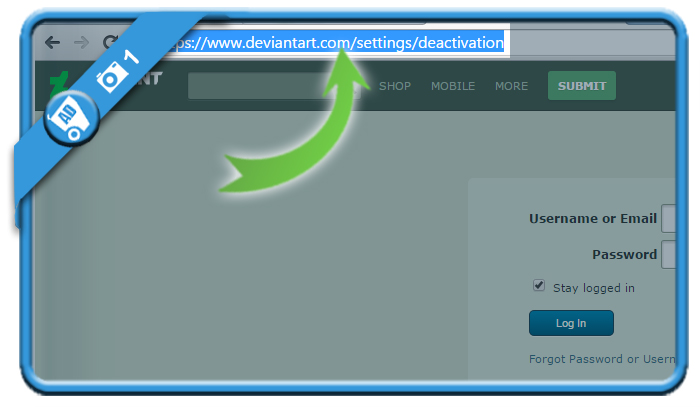 delete deviantart account 1