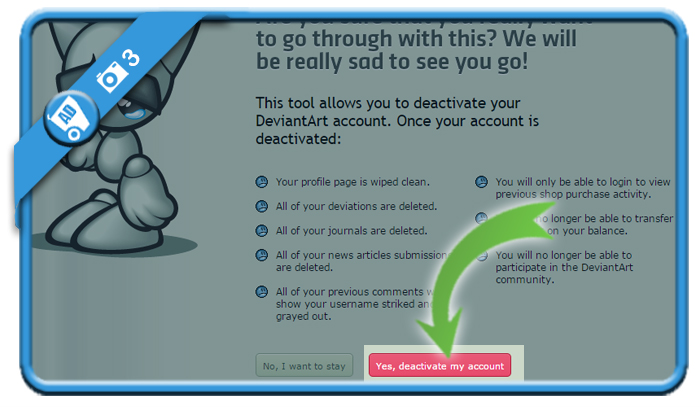 delete deviantart account 3