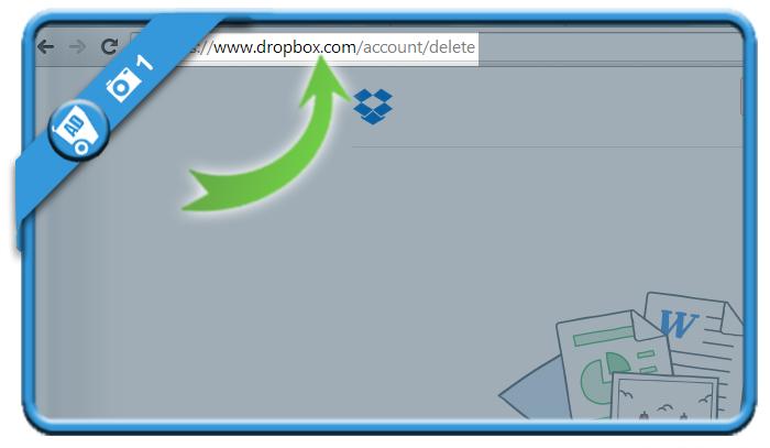 delete dropbox account 1