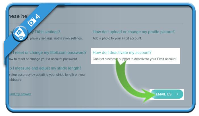 delete fitbit account 4