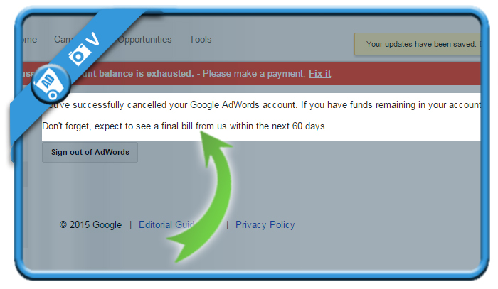 delete google adwords account 5