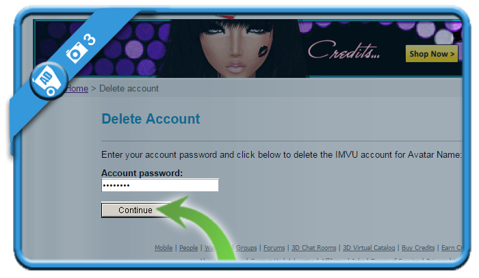 delete imvu account 3