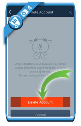 delete line account 4