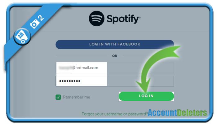 delete spotify account 2