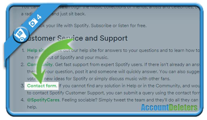 delete spotify account 4