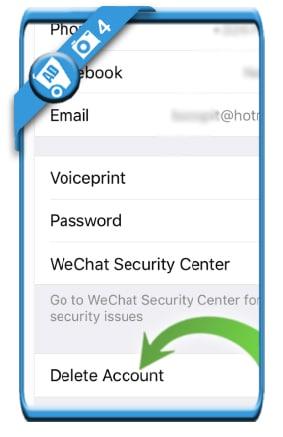 delete wechat account 4