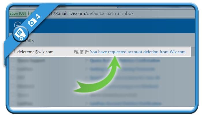 delete wix account 4