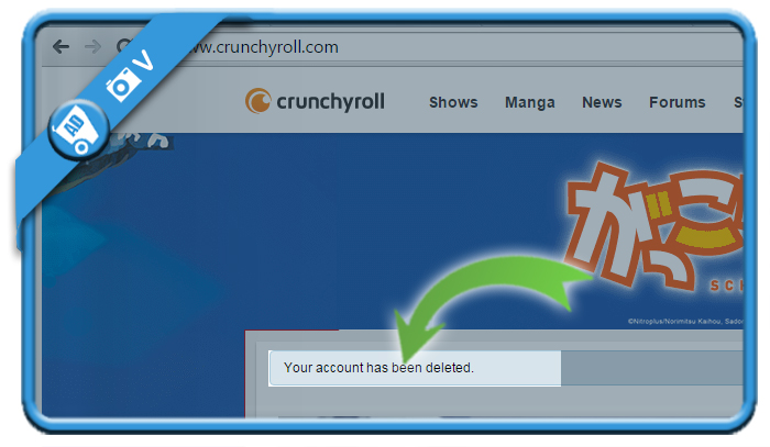 delete crunchyroll account 3