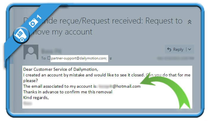 delete dailymotion account 1