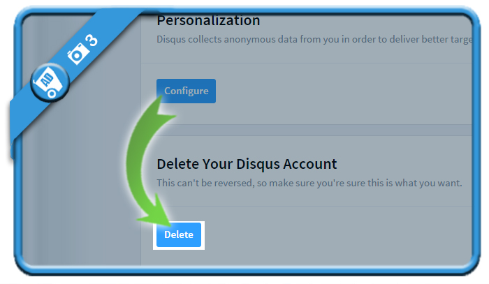 delete disqus account 3