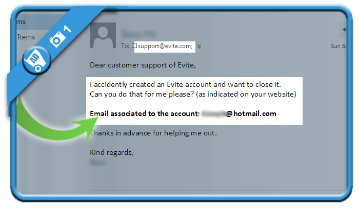 delete evite account 1
