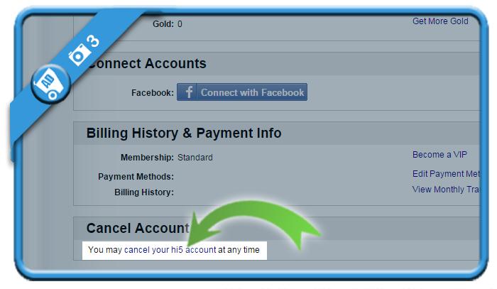 delete hi5 account 3