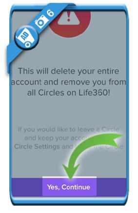 delete life360 account 6