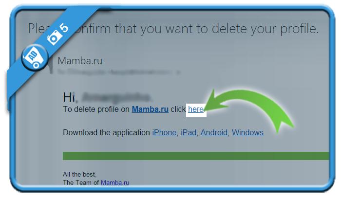 delete mamba account 5