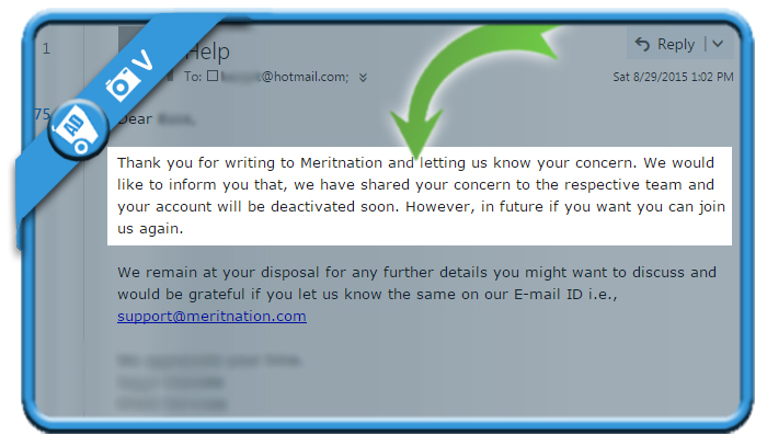 delete meritnation account 2