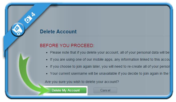 delete myfitnesspal account 4