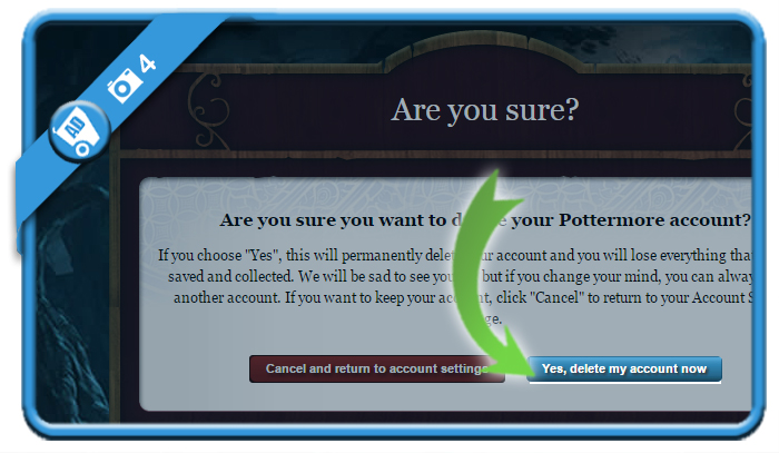 delete pottermore account 4