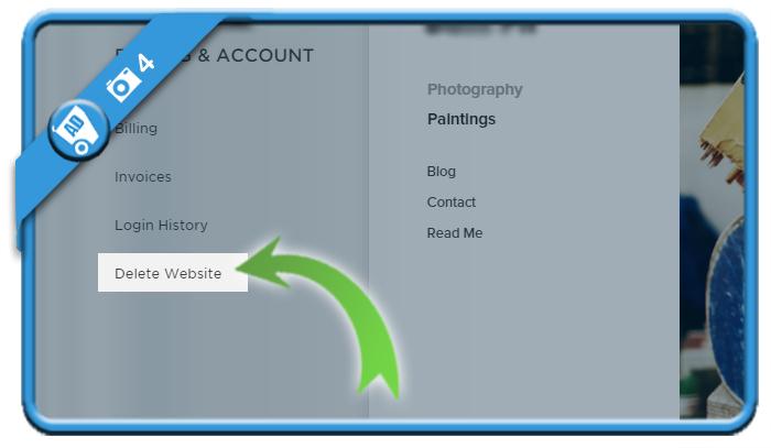delete squarespace account 4