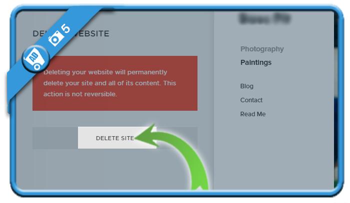 delete squarespace account 5
