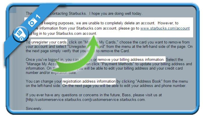 delete starbucks account 1