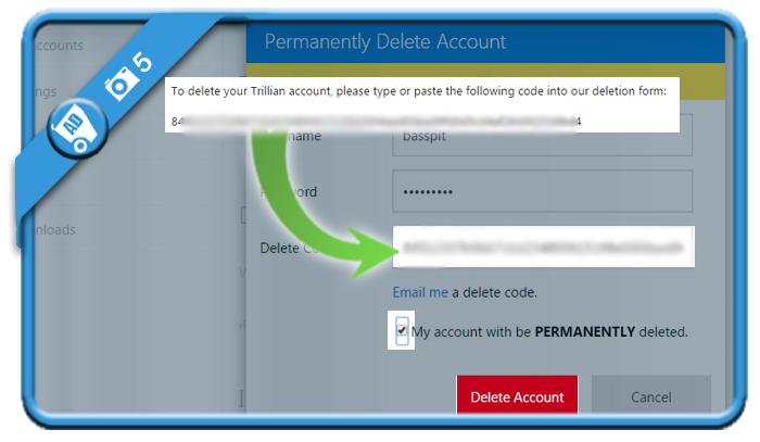 delete trillian account 5