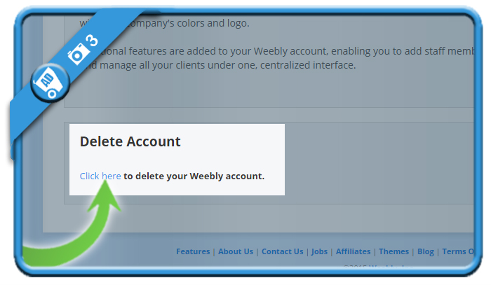 delete weebly account 3