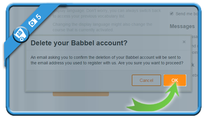 delete babbel account 5