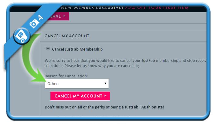 delete justfab account 4