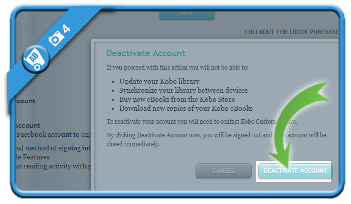 delete kobo account 4