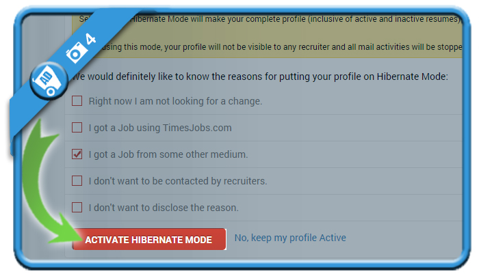 delete timesjobs account 4
