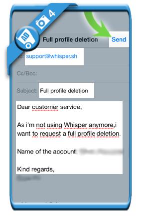 delete whisper account 4