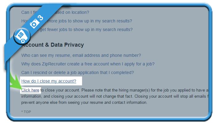 delete ziprecruiter account 3