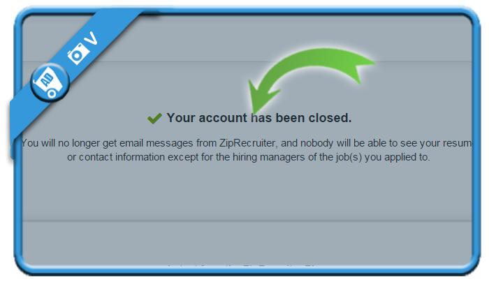 delete ziprecruiter account 5