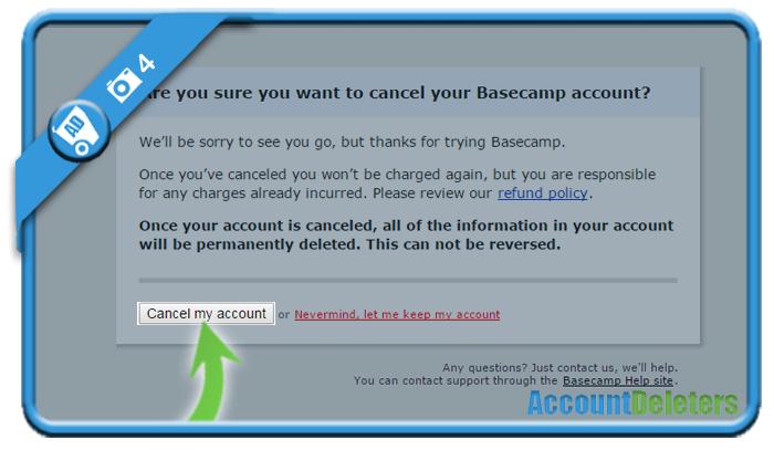 delete basecamp account 4