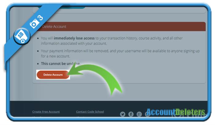 delete code school account 3