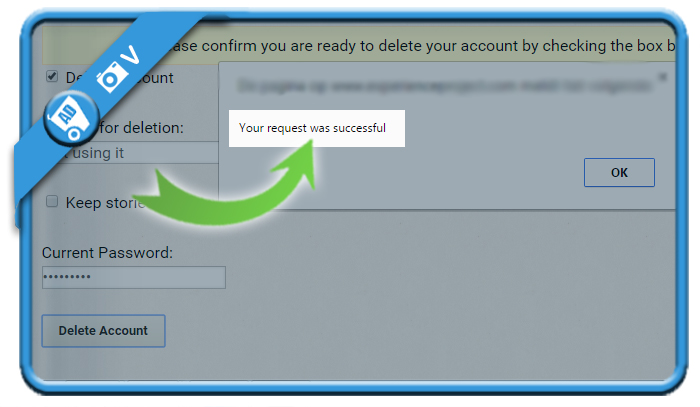 delete experience project account 5