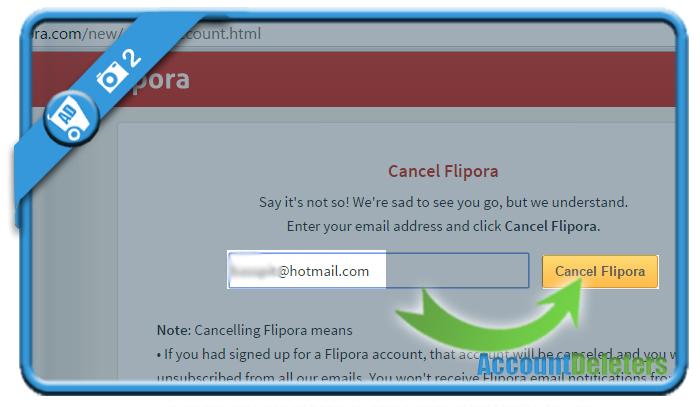 delete flipora account 2