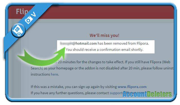 delete flipora account 3