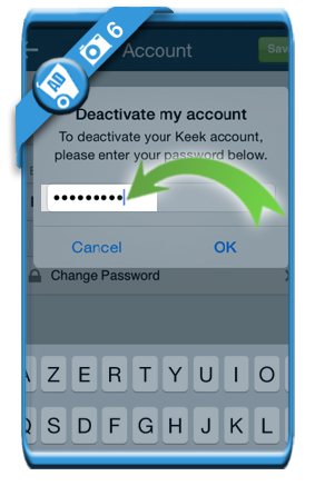 delete keek account 6