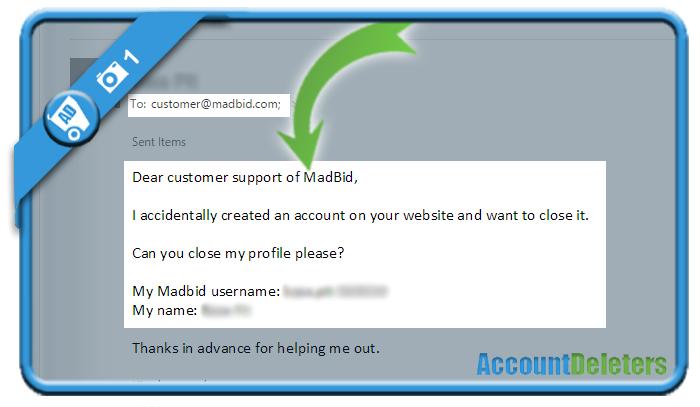 delete madbid account 1