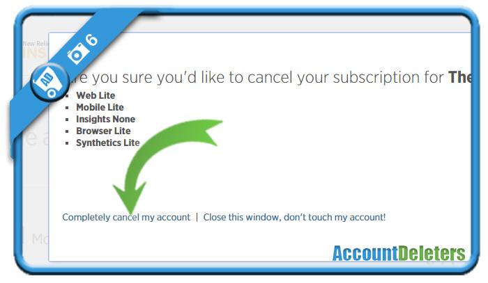 delete newrelic account 6
