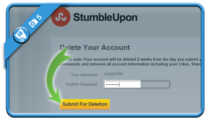 delete stumbleupon account 5